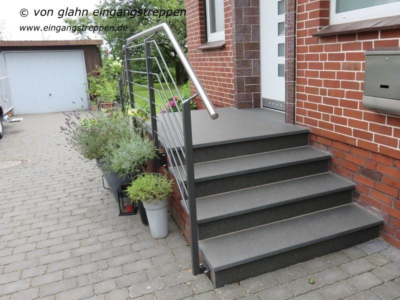 au entreppe treppenanlage im au enbereich aus granit und naturstein. Black Bedroom Furniture Sets. Home Design Ideas