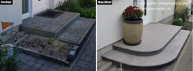 Bevorzugt Hauseingang außen mit Granit und Naturstein neu gestaltet und saniert XG43